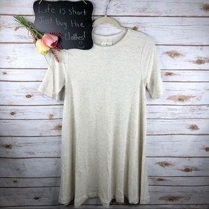 Lou & Grey cream Aline soft short sleeve dress
